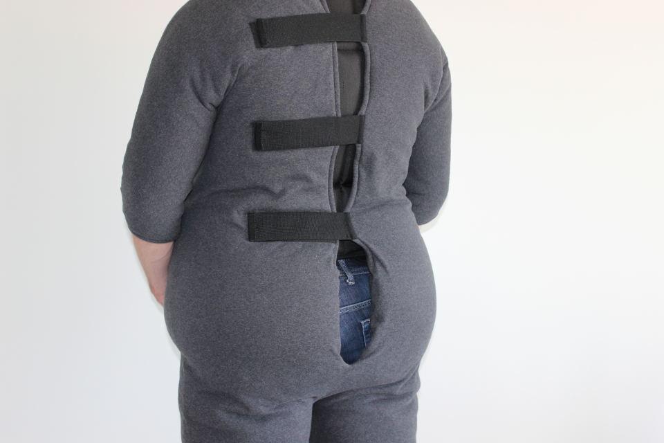 Rückenansicht unseres Fatsuits