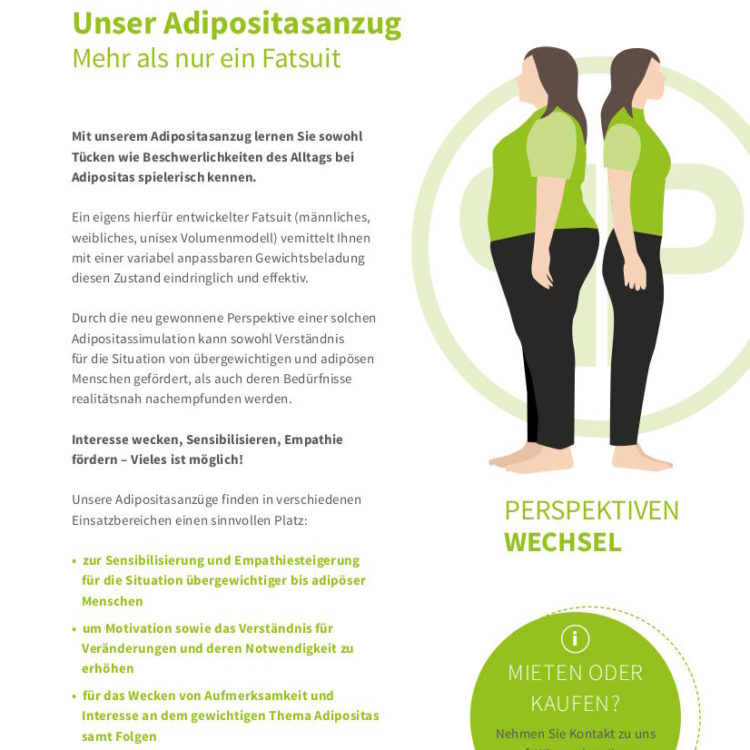 Infobroschüre Adipositasanzug PerspektivenPioniere Vorschau