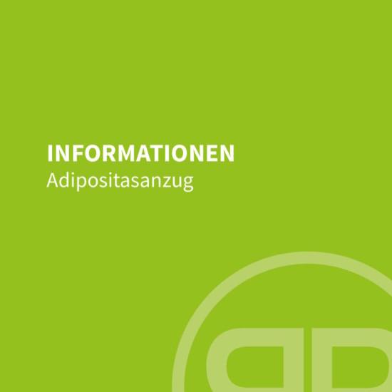 Informationen Adipositasanzug Deckblatt