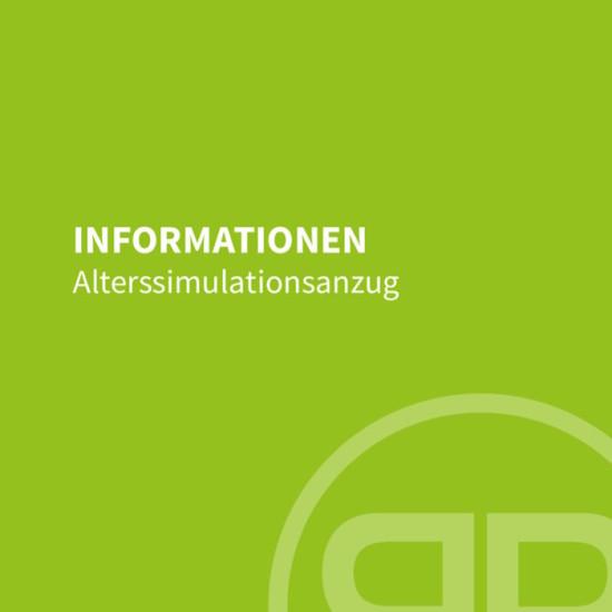 Infobroschüre Altersanzug Deckblatt
