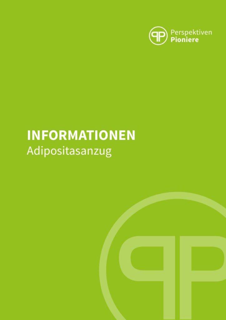 Infobroschüre Adipositasanzug PerspektivenPioniere Deckblatt